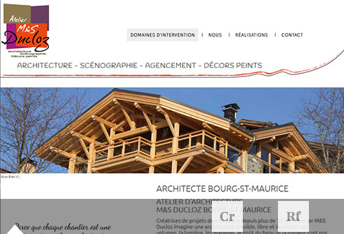 Image du site Internet des architects MS Ducloz